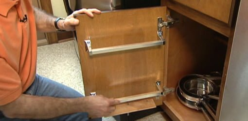 How To Make A Kitchen Cabinet Rack To Store Lids For Pots Today S Homeowner