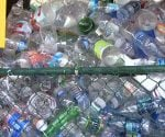 Plastic bottles for recycling.