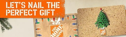 Home Depot Holiday Gift Cards