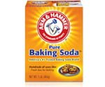 Box of Arm & Hammer Baking Soda.