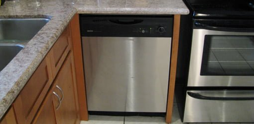 Dishwasher installed