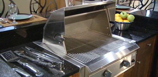 Stainless steel grill.