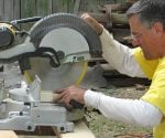 Motorized miter saws are great for crosscutting.