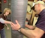 Duct tape punching bag
