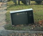 discarded tv