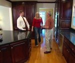 Homeowners with Danny Lipford in remodeled kitchen