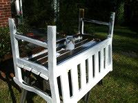 Painting the bottom of bench