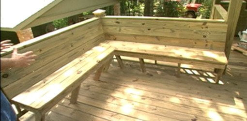 attic remodel youtube - How to Add Built in Seating to a Deck