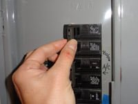Turning off a circuit breaker