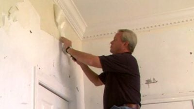 removing old wallpaper glue from plaster walls