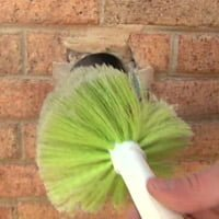 Cleaning dryer vent with brush