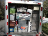 Rental truck packed for move