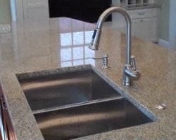 Moen kitchen sink and faucet.