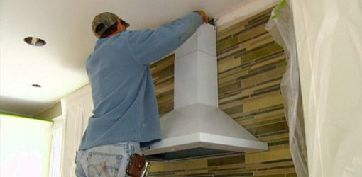 Installing Tile Backsplash And Range Hood In Kuppersmith