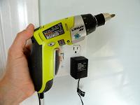 Lithium-ion drill with internal battery