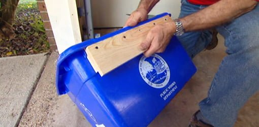 Diy Recycling Bin Wall Hanger Today S Homeowner