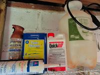 Solvents, adhesives, paints, and pesticides
