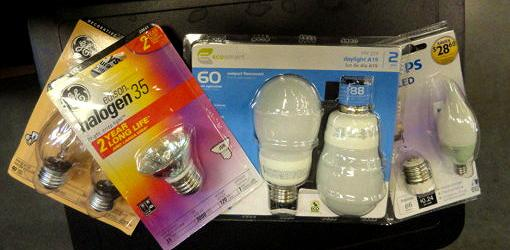 Packages of light bulbs