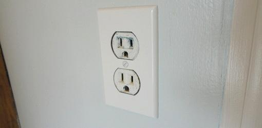 Old 120-volt wall outlet