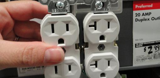 15-amp and 20-amp wall receptacles