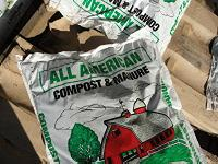 Bag of compost and manure mix