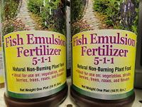 Organic sources of nitrogen for your lawn or garden for What is fish emulsion