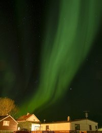 Northern lights over home caused by solar activity