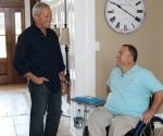 Danny Lipford and homebuilder Phil Garner in his house