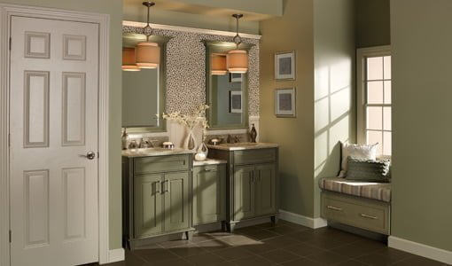 finish this bathroom combines beauty and function with duel vanities