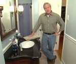 Danny Lipford in remodeled bathroom.