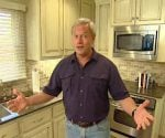 Danny Lipford in remodeled kitchen.