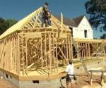 Framing up the master bedroom addition on the Kuppersmith renovation project.
