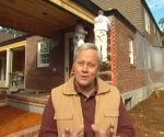 Danny Lipford in front of the Kuppersmith house renovation project.