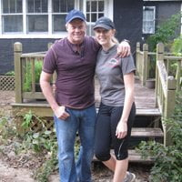 Danny Lipford with daughter Chelsea at First Time Homeowner house.