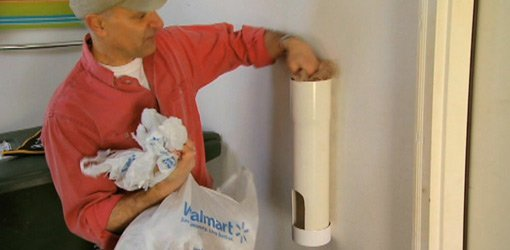 Diy Plastic Bag Storage Tube From Pvc Pipe Today S Homeowner