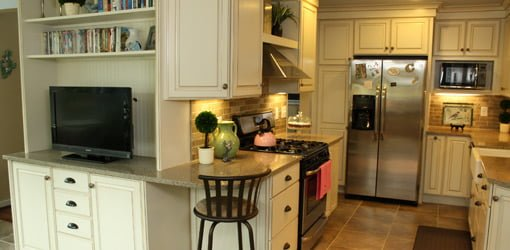 Remodeled First Time Homeowner kitchen with Merillat cabinets.