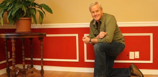 Danny Lipford with faux wainscoting made from stock molding.