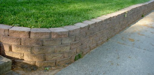 Block retaining wall.