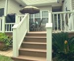 Composite deck and railings.