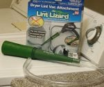 Lint Lizard dryer cleaner on clothes dryer.