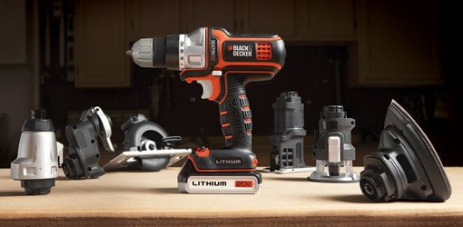 Matrix Quick Connect System Drill/Driver with attachments.