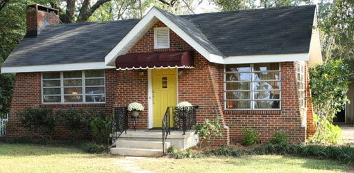 Completed budget curb appeal home makeover project house.