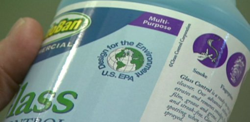 EPA Designed for the Environment (DFE) seal of approval on eco-friendly cleaners.