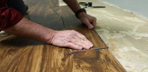 Installing a resilient vinyl floor is an easy DIY project.