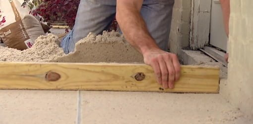 Paver Patio Sand Base Leveling Tip Today S Homeowner