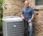 Danny Lipford with energy efficient Carrier Infinity heat pump.
