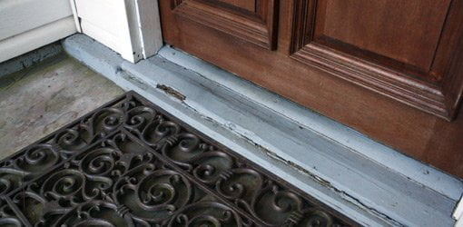 How To Replace A Rotten Entry Door Sill Today S Homeowner