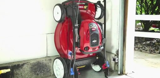 Toro Smartstow Vertical Storage Lawn Mower Today S Homeowner