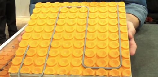 Ditra-Heat radiant heating tile underlayment mat from Schluter Systems.