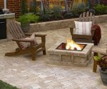 Paver patio, fire pit, and grill.